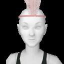 Avatar 1920's flapper feather headband pink