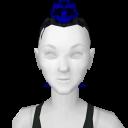 Avatar Blue tipped black mohawk