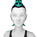 Avatar Teal tipped black mohawk