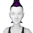 Avatar Purple tipped black mohawk