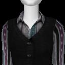 Avatar Sweatervest & blouse - purple