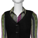 Avatar Sweatervest & blouse - pink
