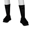 Avatar Scary spice costume: black laced boots
