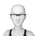 Avatar Wire framed hipster glasses in black