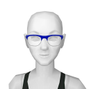 Avatar Wire framed hipster glasses in blue