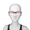 Avatar Wire framed hipster glasses in red