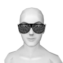 Avatar (rock star) black glasses with white strings.