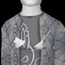 Avatar Argyle cardigan w/ bunny tee- (gray)