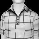 Avatar White square polo shirt