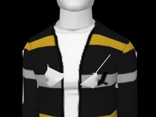 Avatar Yellow & white striped cardigan