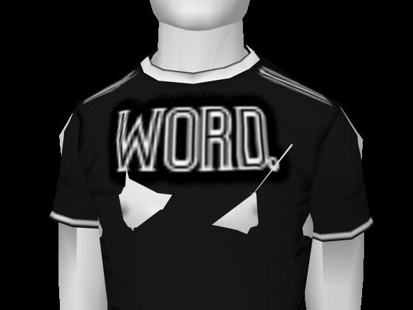 Avatar Word tee- (black)