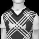 Avatar White striped sweater vest
