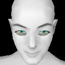 Avatar Aqua cat eye contacts