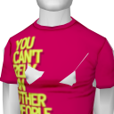 Avatar You cant rely on other people slim tee