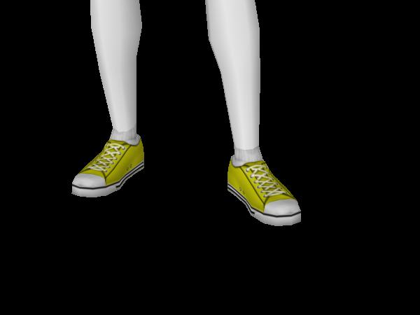 Avatar Yellow chucks with black piping